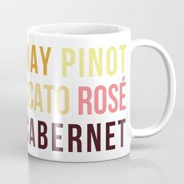 Wine Typography Spectrum Coffee Mug