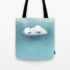 crying cloud Tote Bag