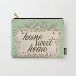 Home sweet home housewarming welcome gift art print Carry-All Pouch