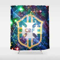 brazil Shower Curtains featuring Brazil Logo by Cr7izbest