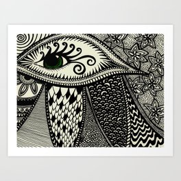 Green Eyes On You Art Print