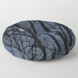Moon captured - an illustrated poem Floor Pillow