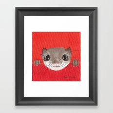 Cute baby Squirrel Bright Bold Colors Childrens decor Nursery Art Framed Art Print