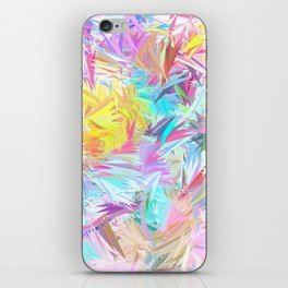 Pastel Abstract Leaves Design iPhone Skin