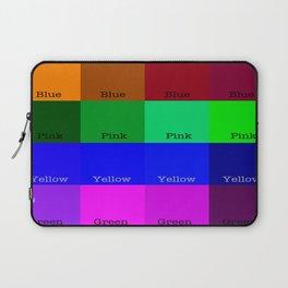 Blue, Pink, Yellow, Green  Laptop Sleeve