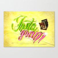 instagram Canvas Prints featuring Instagram by Ruudios