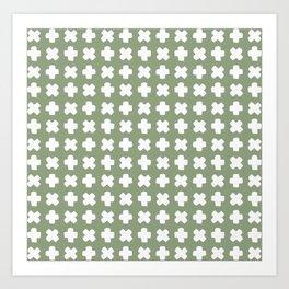 Celeste Olive Green Art Print