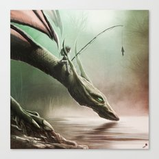 Fishing On The Drinking Dragon Canvas Print
