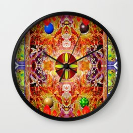 Cool Day at the Beach Wall Clock