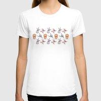 sticker T-shirts featuring sticker monster pattern 6 by freshinkstain