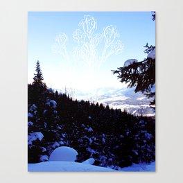 Ice flowers Canvas Print