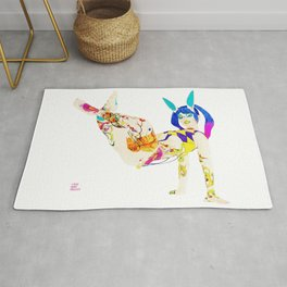 Pin up Alt Model Girls Extreme Planking Suicide Pinups Rug