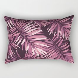 Rose palm leaves Rectangular Pillow