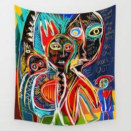 When the mothers talk street art graffiti Wall Tapestry