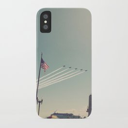 Blue Angel Jets Flying Color Photo iPhone Case