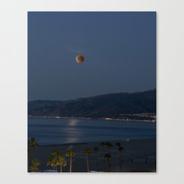 Super Blue Blood Moon ~ Santa Monica, CA 01/31/2018 Canvas Print