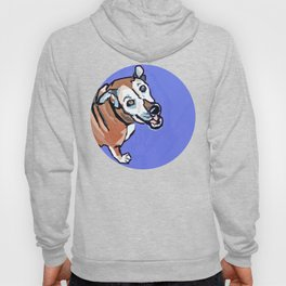 Happy Marvelous Mystery Mutt Dog Portrait Hoody