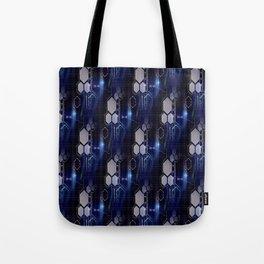 Techno Blue Tote Bag