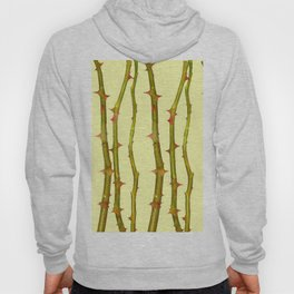 THORN BUSH CANES ABSTRACT IN YELLOW ART Hoody