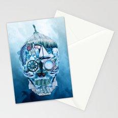 Skull Ocean Blue Stationery Cards