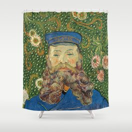 Portrait of the Postman Joseph Roulin by Vincent van Gogh Shower Curtain