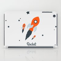 rocket iPad Cases featuring Rocket by Jane Mathieu