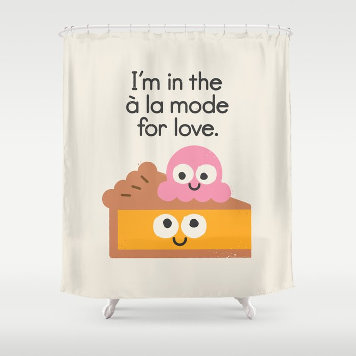 A Relationship Built On Crust Shower Curtain