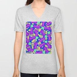 Purple Festivus Unisex V-Neck