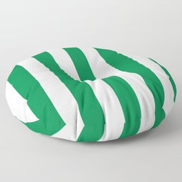 Philippine green -  solid color - white vertical lines pattern Floor Pillow