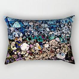 Abstract Geometric Shapes Rectangular Pillow