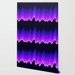 Ultraviolet Retro Ripple Wallpaper
