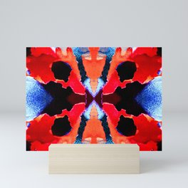 Red Butterfly - Abstract Mini Art Print