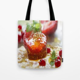 Summer Love strawberries with honey Tote Bag