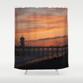 Huntington Beach Sunset Shower Curtain