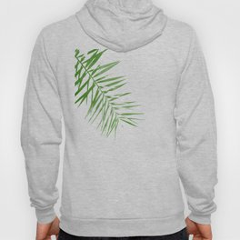 Green Palm Print, Watercolour Plant Wall Art Hoody