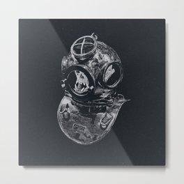 Macaque Diver Metal Print