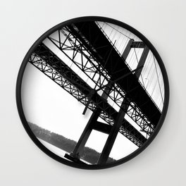 a bridge over troubled waters Wall Clock