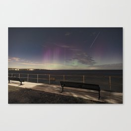 Shooting Star Aurora Canvas Print