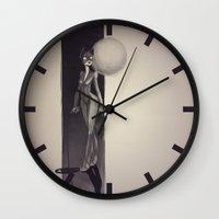 catwoman Wall Clocks featuring Catwoman by animatorlu