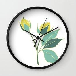 Rose Flower Wall Clock