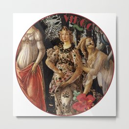 Zodiac art: virgo Metal Print