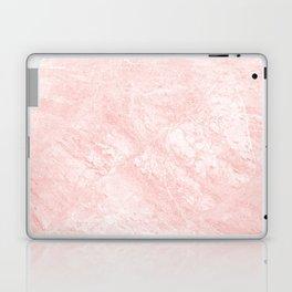 Blush pink white elegant modern marble Laptop & iPad Skin