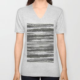 abstract charcoal drawing Unisex V-Neck