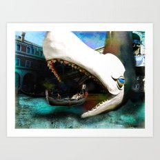 Whale of a Ride Art Print