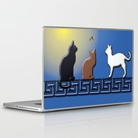 greece Laptop & iPad Skins featuring Greece Cats by LoRo  Art & Pictures