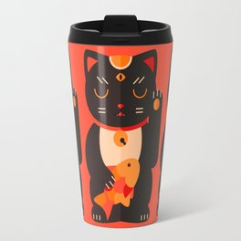 Beckoning Cat Travel Mug