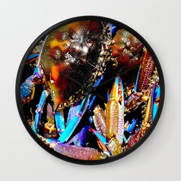 bright Blue swimmer crabs, Whyalla, South Australia Wall Clock
