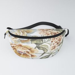 Circular Pastel Florals Fanny Pack
