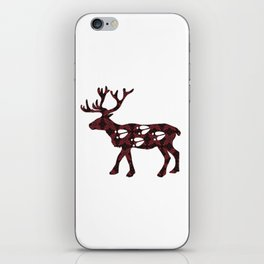 Cariboo Cranberry Cutout(Cranberry Harvest pattern) iPhone Skin