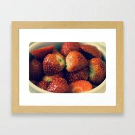 Strawberry fields forever.... Framed Art Print